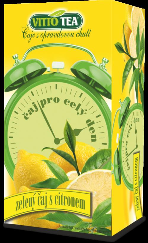 Budík zelený čaj s příchutí citronu