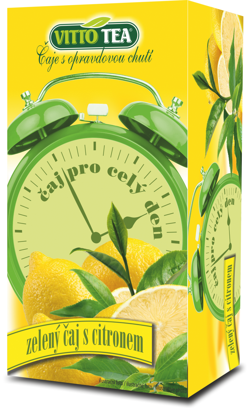 Budíky - zelený čaj s citronem
