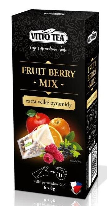 EXTRA VELKÉ PYRAMIDY FRUIT BERRY MIX